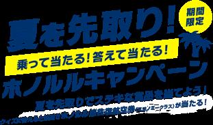 JAL国際線 夏を先取り!ホノルルキャンペーン