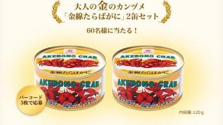 大人の金・銀カンヅメ プレゼントキャンペーン