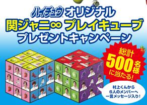 ハイチュウオリジナル 関ジャニ∞プレイキューブ プレゼントキャンペーン|ハイチュウ|森永製菓